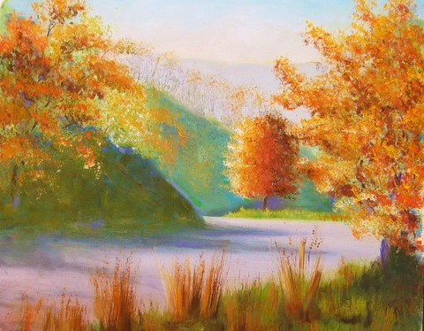 Landscape in Autumn by Pheona