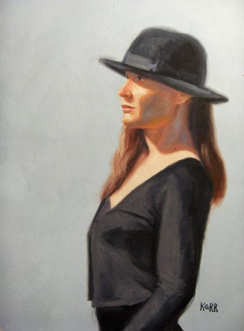 Sarah in black hat